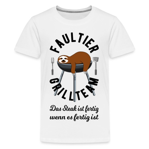 Faultier Grillteam - Teenager Premium T-Shirt