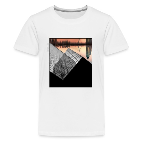 Rotterdam Skyline vs Delftse Poort - Teenager Premium T-shirt