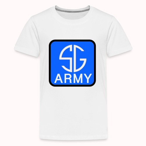 SemGamerArmy logo in box - Teenager Premium T-shirt