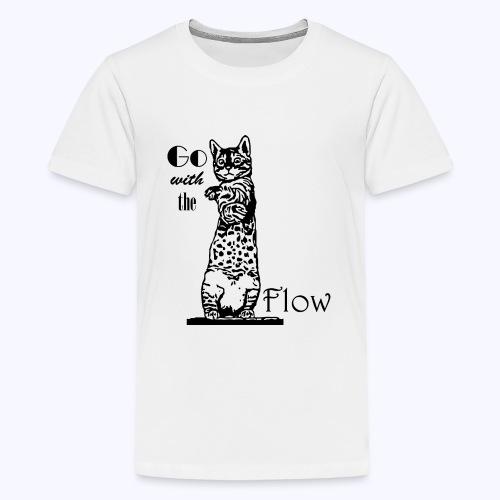 YogaKat1 schwarz - Teenager Premium T-Shirt
