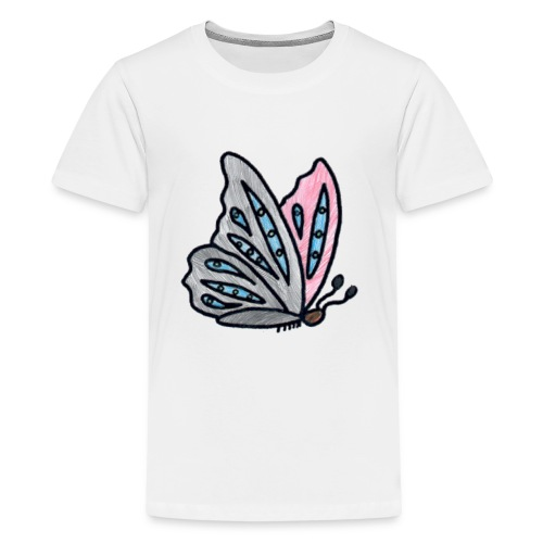 Fjäril - Premium-T-shirt tonåring