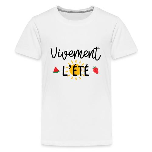 été / vacances / plage / soleil / mer - T-shirt Premium Ado