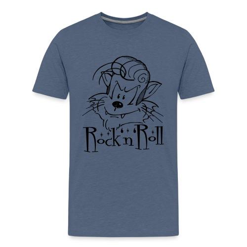 Rock'n'Roll Cat - Teenager Premium T-Shirt