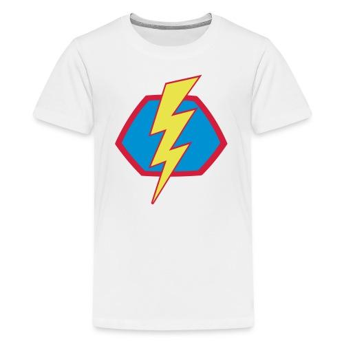 Superhelden Superhero Comic Blitz Symbol - Teenager Premium T-Shirt