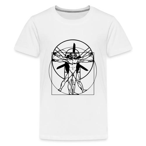 Leonardo da Vinci Vitruvian PPG Man - Teenager Premium T-Shirt