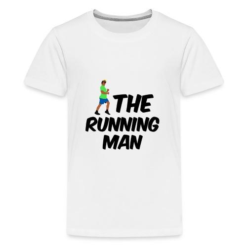 The Running Man Light Blue Short - Teenage Premium T-Shirt