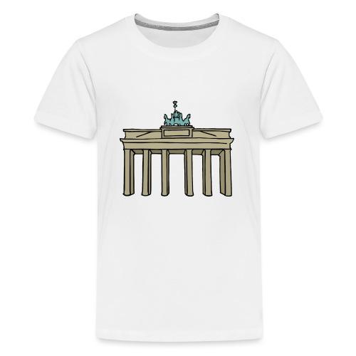 Porta di Brandeburgo a BERLINO c - Maglietta Premium per ragazzi