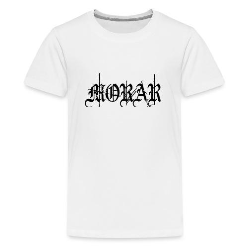 Morar - Logo white - Teenage Premium T-Shirt