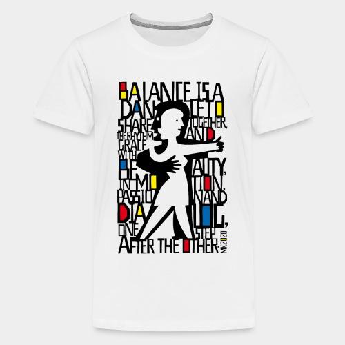 danseurs de musique de danse - T-shirt Premium Ado
