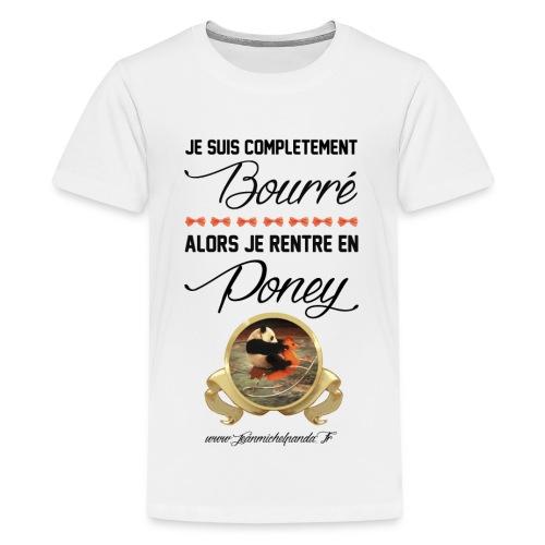 Jean Michel Panda Bourré - T-shirt Premium Ado