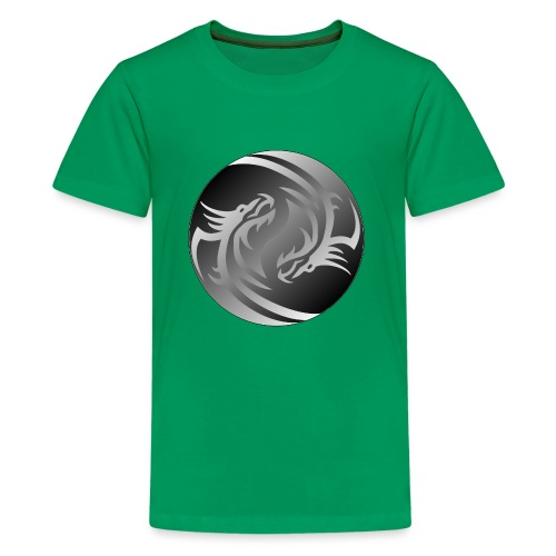 Yin Yang Dragon - Teenage Premium T-Shirt