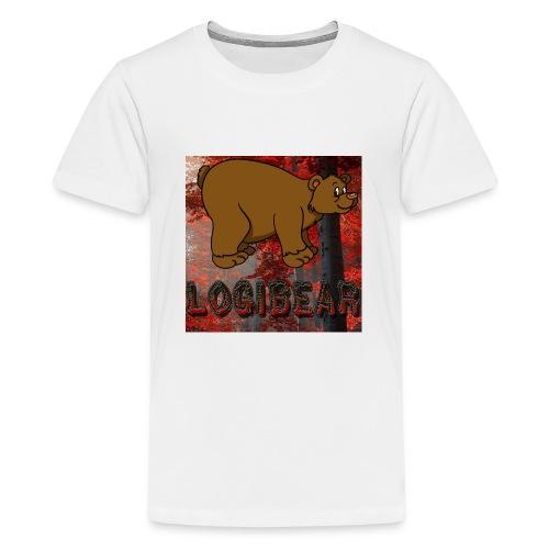 Male Logi Bear Shirt - Teenage Premium T-Shirt