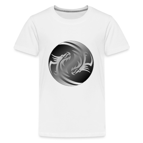 Yin Yang Dragon - Teenage Premium T-Shirt