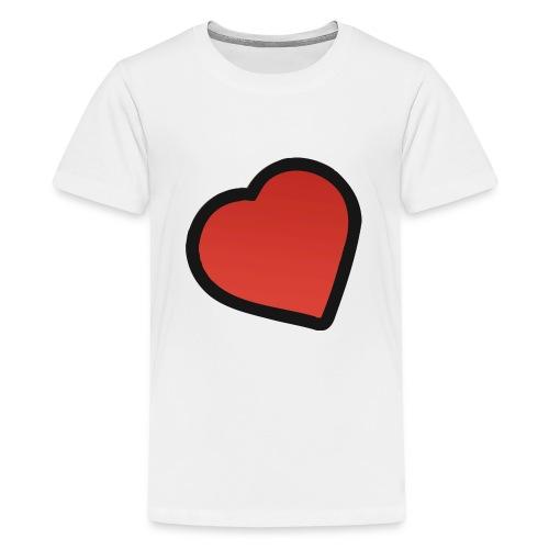 heart - Teenager premium T-shirt