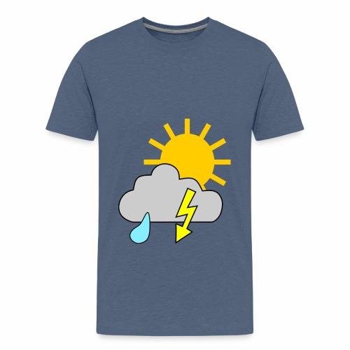 Sun - rain - thunderstorm - Teenage Premium T-Shirt