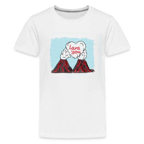 Lava You - Vulkan Liebe - Teenager Premium T-Shirt