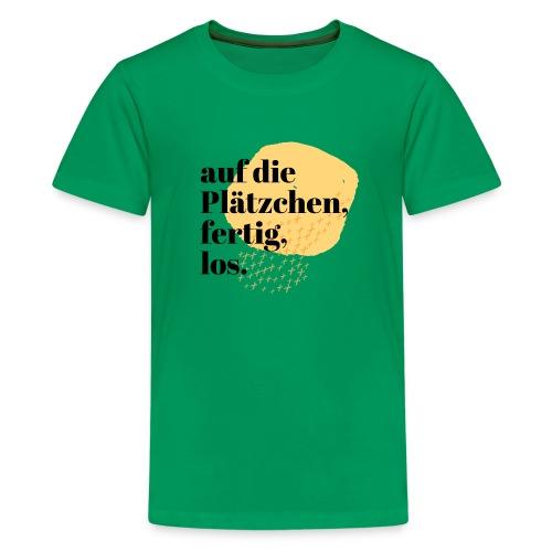 Auf die Plätzchen, fertig, los. Aquarell - Teenager Premium T-Shirt