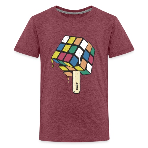 Rubik's Cube Ice Lolly - Teenage Premium T-Shirt