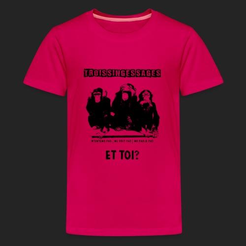 Three wise monkeys - T-shirt Premium Ado