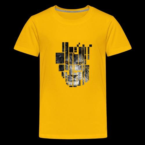 Pixel Lion Tattoo Inspire - Teenage Premium T-Shirt