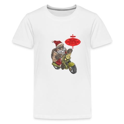 Santa Claus wishes you a Merry Christmas - T-shirt Premium Ado