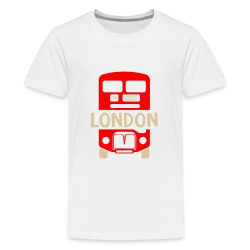 London Bus Roter Doppeldecker London Fan Souvenir - Teenager Premium T-Shirt