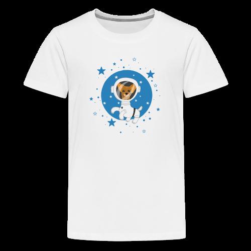 Kleiner Hund im Weltall - Teenager Premium T-Shirt