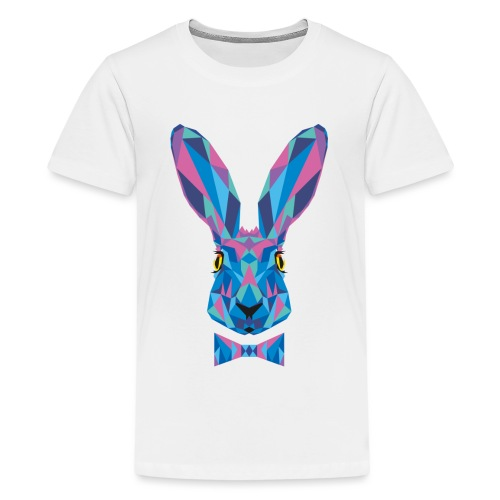 Hase Fliege Feldhase Langohr bunt Kaninchen Löffel - Teenager Premium T-Shirt