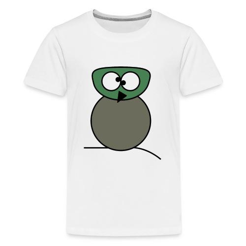 Owl crazy - c - Teenage Premium T-Shirt