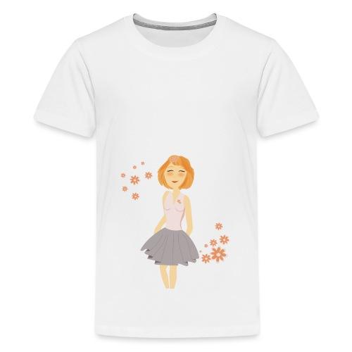 roodharig meisje - T-shirt Premium Ado
