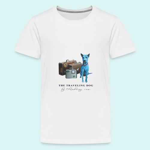 Laly Blue Big - Teenage Premium T-Shirt