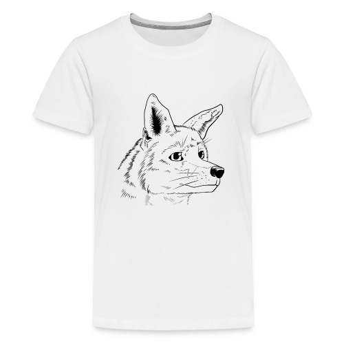 Strichzeichnung Fuchs - Teenager Premium T-Shirt