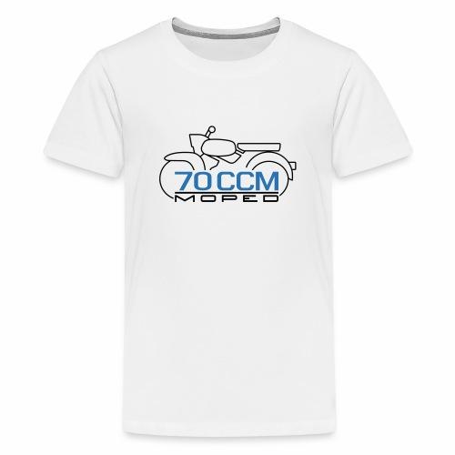 Moped Sperber Habicht 70 ccm Emblem - Teenage Premium T-Shirt