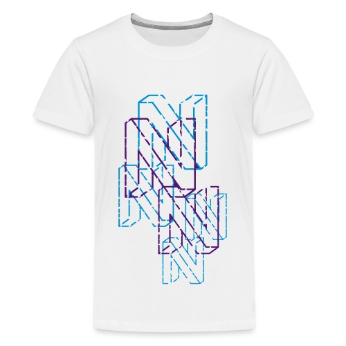 Neos logo back trashed without URL, 2-color - Teenage Premium T-Shirt