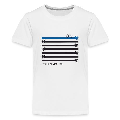 BCL Black Hands One Blue - Teenage Premium T-Shirt