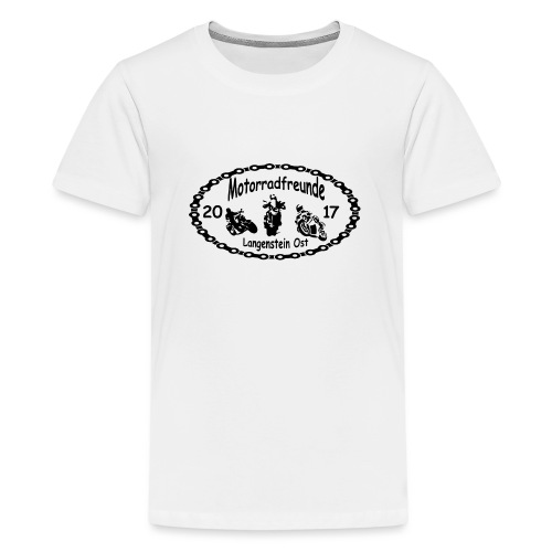 Motorradfreunde schwarz - Teenager Premium T-Shirt