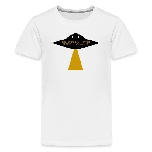 UFO - Mit einer geheimen Botschaft - Teenager Premium T-Shirt