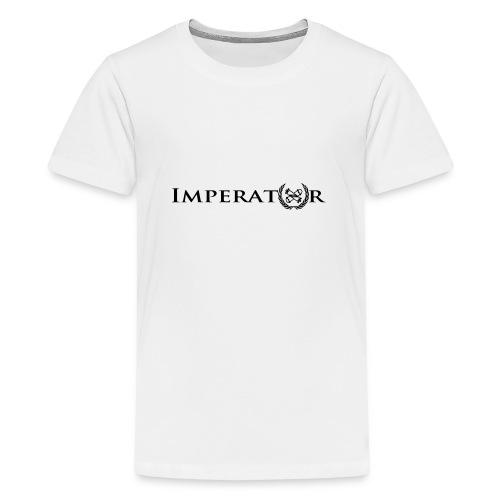 logo vektor lang schwarz - Teenager Premium T-Shirt