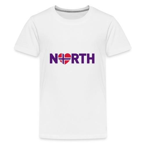Nord-Norge på engelsk - plagget.no - Premium T-skjorte for tenåringer