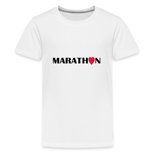 I love Marathon - Teenager Premium T-Shirt