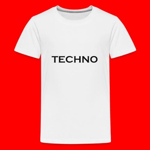 Parts of Life Techno Black - Teenager Premium T-Shirt