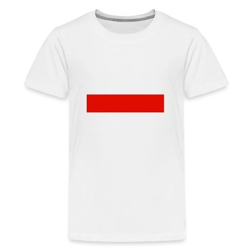 Red Rectangle - Teenage Premium T-Shirt