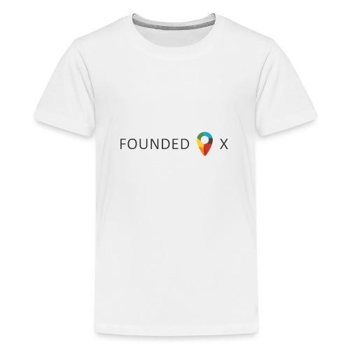 FoundedX logo png - Teenage Premium T-Shirt
