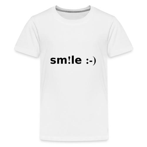 smile - sorridi - Maglietta Premium per ragazzi
