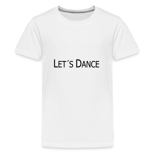 lets dance logo neu schrift 10cm - Teenager Premium T-Shirt