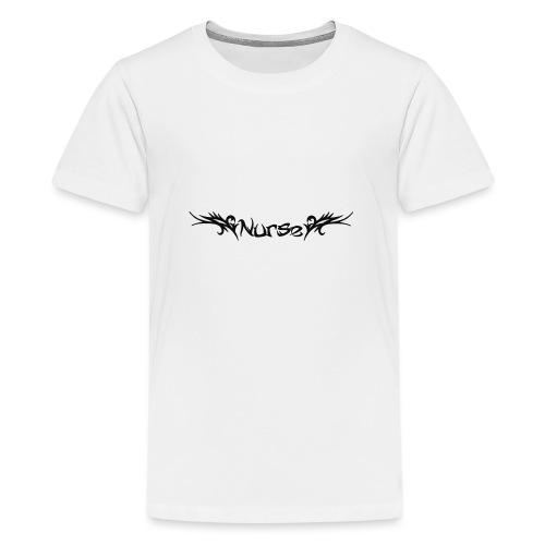 Tribaali nurse - Teinien premium t-paita