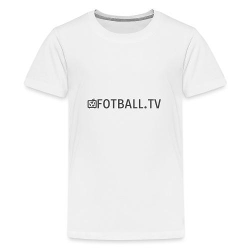 Fotballtv logo - Premium T-skjorte for tenåringer