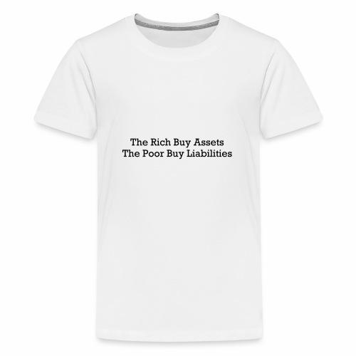 Rich and poor - Teenage Premium T-Shirt