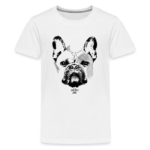 Französische Bulldogge Sketch - Teenager Premium T-Shirt