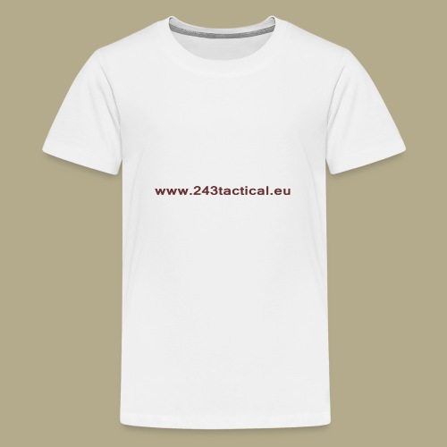 .243 Tactical Website - Teenager Premium T-shirt